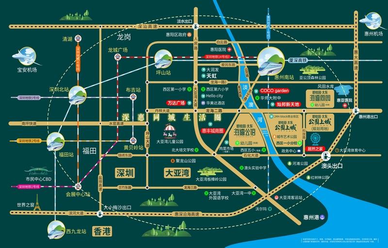 碧桂园交通图