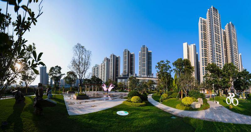 碧桂园公园上城实景图